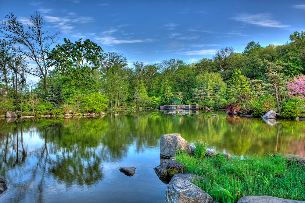 The Garden of Reflection Pond at Anderson Gardens in Rockford, IL