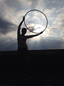 My daughter Danica with her hoop (photo courtesy of Elizabeth Astro)
