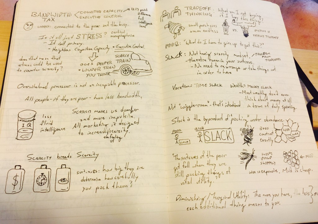 """My Sketchnotes for a section on the """"Bandwidth Tax"""""""